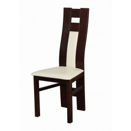 buková masívna stolička Flóra čalúnená