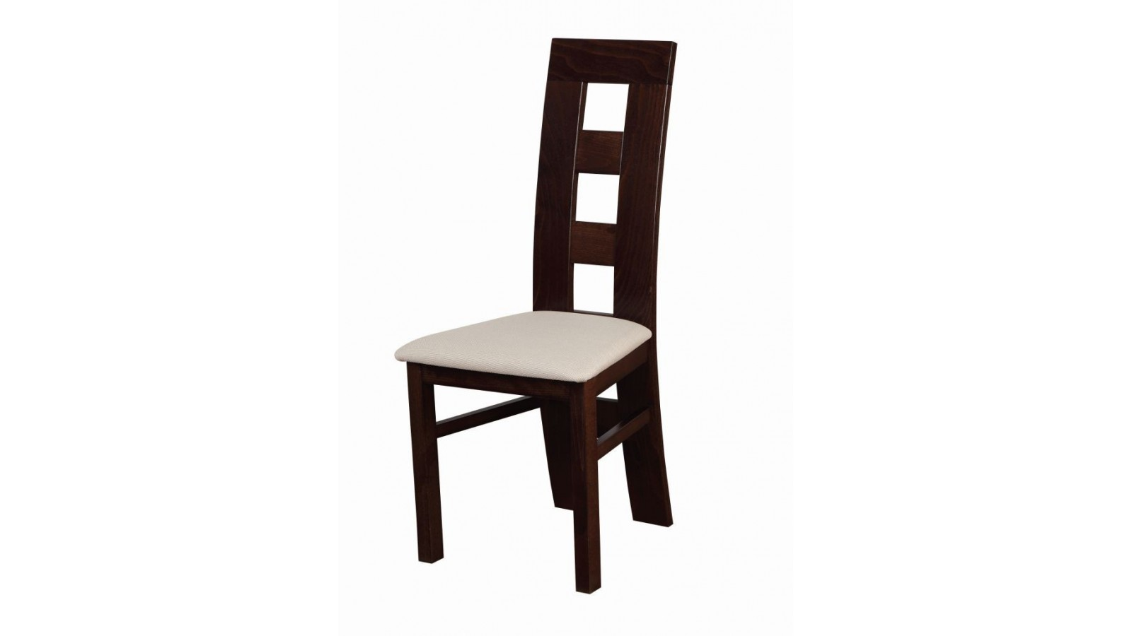 buková masívna stolička Flóra drevo + čalúnenie