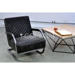 luxusné kovovo - kožené kreslo KOI61