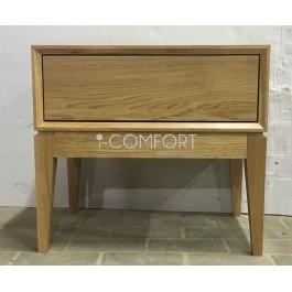 Dubový masívny 1 - zásuvkový nočný stolík Lozzane
