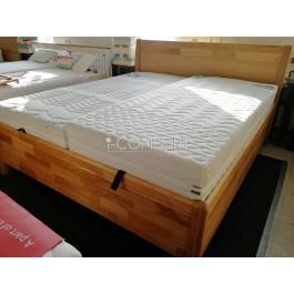 Dubová masívna posteľ Dada s úložným priestorom