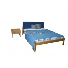 Dubová a jaseňová masívna posteľ Bawária 180/160/140 x 200 cm.