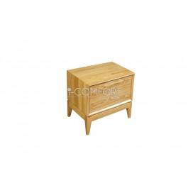 Dubový masívny 2 - zásuvkový nočný stolík Lozzane