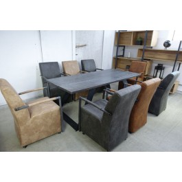 Industriál bukový stôl, nohy U