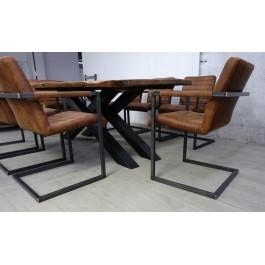 Industriál dubový stôl, nohy X