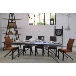 Industriál HDF stôl, nohy hviezda