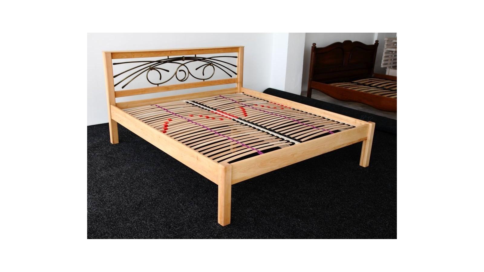 jelšová posteľ Modern + kov