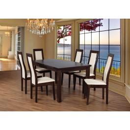 Bukový set č. 80, stôl + 6 x stolička