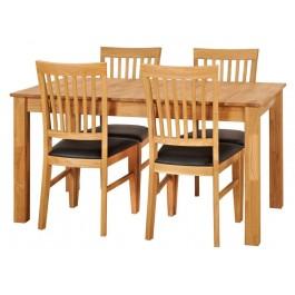 Dubový set č. 111,  4 x stolička + stôl