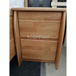 Masívny 2 - zásuvkový dubový nočný stolík Dada