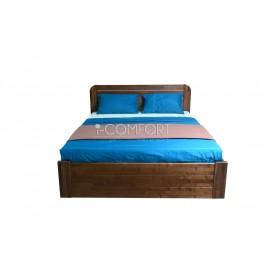 Jaseňová masívna posteľ s úložným priestorom Diana 180/160/140 x 200 cm.