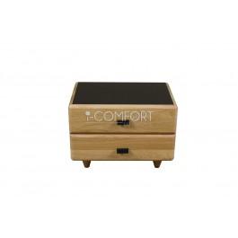 Masívny 2 - zásuvkový nočný stolík HANNA z materiálu jaseň a dub.