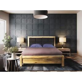 Masívna dubová manželská posteľ Venézia s úložným priestorom