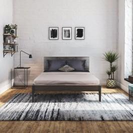 Dubová a jaseňová masívna posteľ Lozzane 180/160/140 x 200 cm.