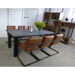 Industriál bukový stôl, nohy rovné
