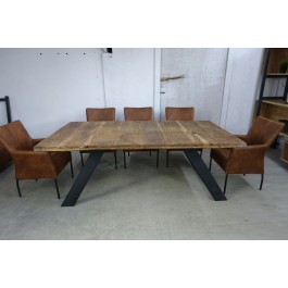 Industriál dubový stôl, nohy U